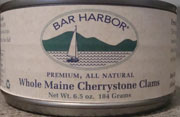 Bar Harbor Sholw Maine Cherrystone Clams, canned