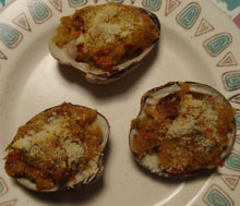 Maine Mahogany Clams Casino