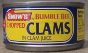 Cnows Chopped Clams in Clam Juice by Bumble Bee, Canned